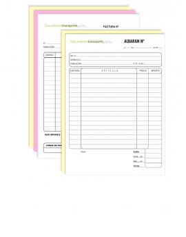 Talonario A5 copiativo Personalizado para Albarán o Factura