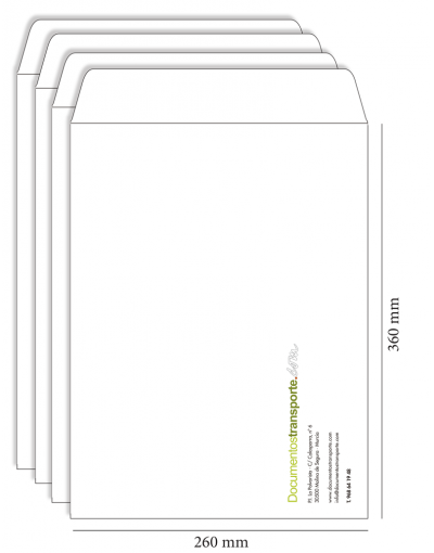 Bolsa 260x360 mm