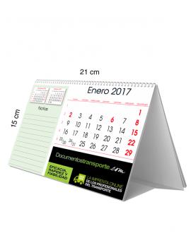 Calendario sobremesa 21x10. Notas