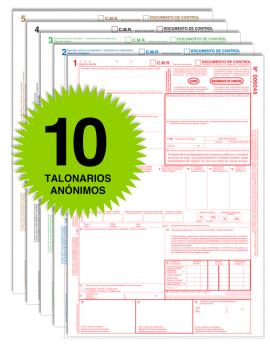 Pack 10 Talonarios CMR - Autocopiativos - Anónimos