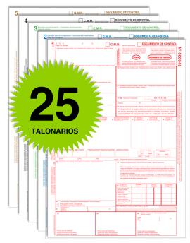 Pack 25 Talonarios CMR - Autocopiativos