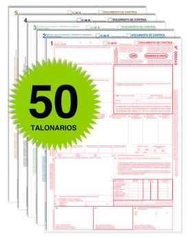 Pack 50 Talonarios CMR - Autocopiativos