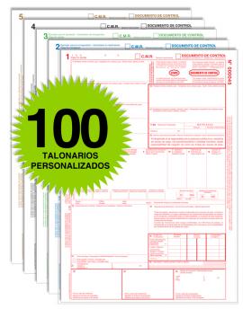 Pack 100 Talonarios CMR - Autocopiativos
